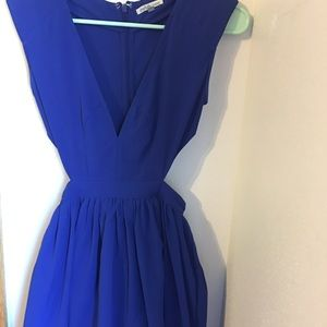 Fitting Blue Flare Dress